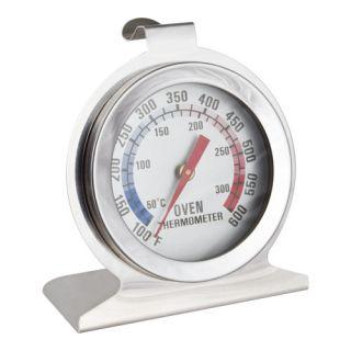 Termometr do piekarnika ze stali nierdzewnej - do zawieszenia lub postawienia 50-300 C - 40 x 70 mm