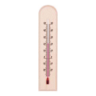 Termometr wewnętrzny drewniany - łuk - 40x185 mm - jasny brąz