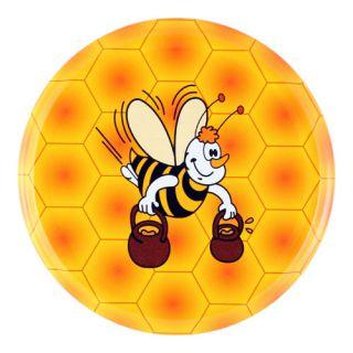 Zakrętki do słoików - dla pszczelarzy - Gucio - śr. 66 mm - 10 szt.