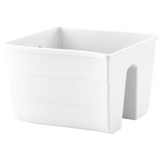 Donica balustradowa Wave - 30 cm - biała