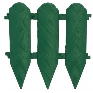 Płotek ogrodowy drewnopodobny, wys. 26 cm - 2 m - zielony