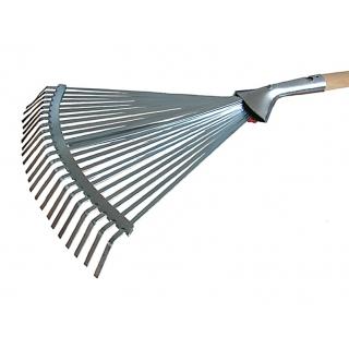 Grabie do liści regulowane z taśmy z trzonkiem drewnianym 130 cm