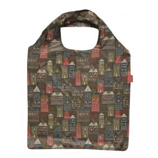 Składana torba na zakupy - 42 x 60 cm - domki