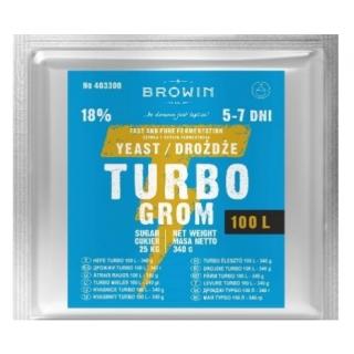 Drożdże gorzelnicze Turbo 100 l - szybka, czysta i wydajna fermentacja - 340 gram