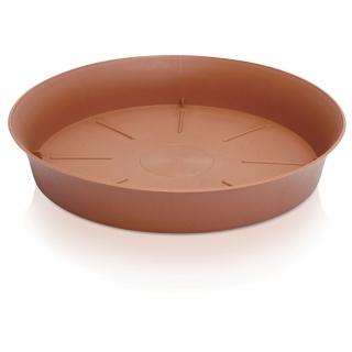 Podstawka do doniczki okrągłej Plastica - 9,8 cm - terakota