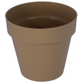 Osłonka okrągła wisząca Ibiza - 22 cm - cafe latte