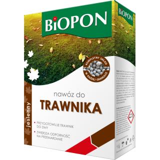 Nawóz jesienny do trawników - hartuje i zabezpiecza trawnik przed zimą - Biopon - 3 kg