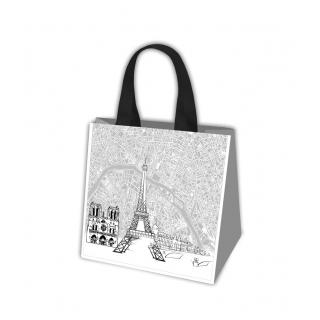 Torba na zakupy - Podróże Europy - Paryż - 34 x 36 x 22 cm
