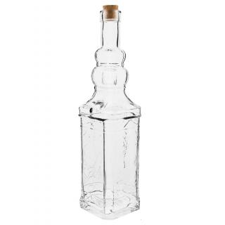 Butelka szklana z korkiem - Wieża - 750 ml