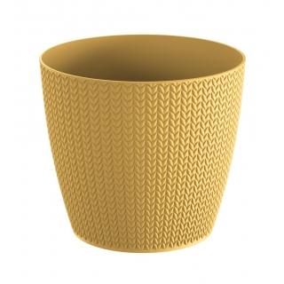 Doniczka okrągła Wheaty - 13 cm - żółty indyjski