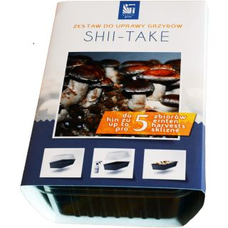 Shiitake - kompletny zestaw z miniszklarenką do uprawy w domu - 3 l