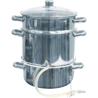 Sokownik nierdzewny - do uzyskania soku z owoców i warzyw - na wszystkie kuchenki, również indukcję - 12 litrów