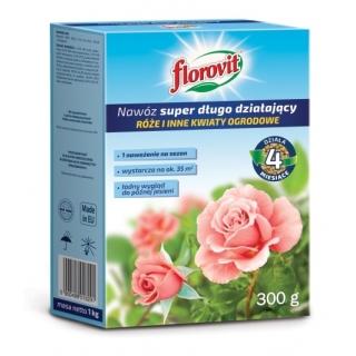 Nawóz super długo działający - róże i inne kwiaty ogrodowe - Florovit - 300 g