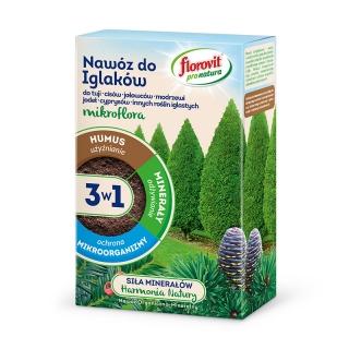 Nawóz do iglaków 3 w 1 - użyźnia, odżywia i chroni - Pro Natura - Florovit - 1 kg