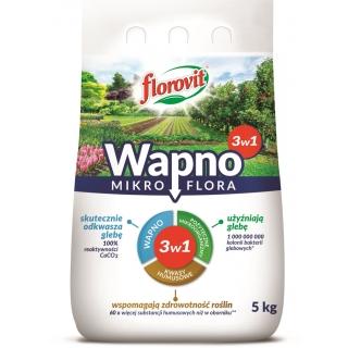 Wapno granulowane 3 w 1 - wapno, pożyteczne organizmy i humus - Mikroflora - Florovit - 5 kg