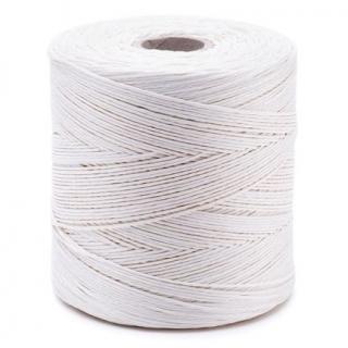 Nić lniana - nabłyszczana, biała - 500g/600m