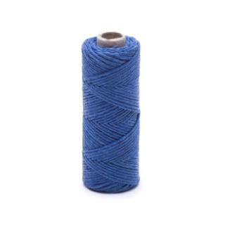 Nić lniana - nabłyszczana, niebieska - 20g/30m