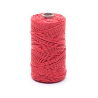 Nić lniana - nabłyszczana, czerwona - 50g/60m