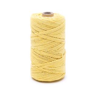 Nić lniana - nabłyszczana, żółta - 50g/60m