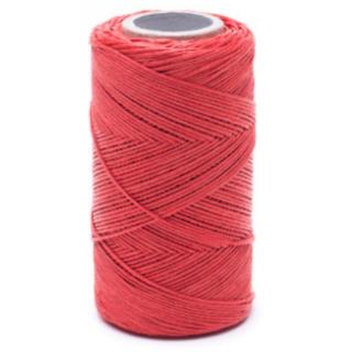 Nić lniana - nabłyszczana, czerwona - 100g/120m