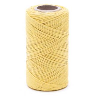 Nić lniana - nabłyszczana, żółta - 100g/120m