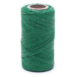 Nić lniana - nabłyszczana, zielona - 100g/120m