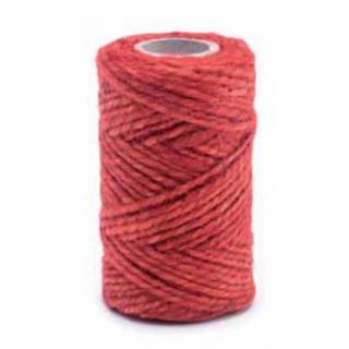 Sznurek jutowy - czerwony - 100g/40m