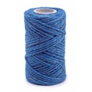Sznurek jutowy - niebieski - 100g/40m