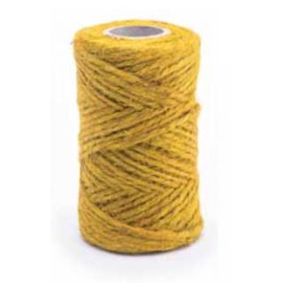 Sznurek jutowy - żółty - 100g/40m