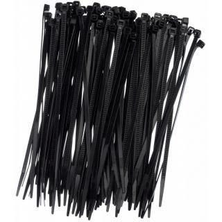 Opaski zaciskowe, trytytki, zipy - 150 x 3,6 mm - czarne - 100 szt.
