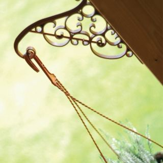 Wieszak ozdobny do doniczek wiszących lub koszyka z kwiatami - Akant - terakota