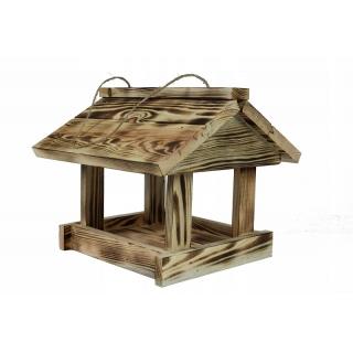 Karmnik dla ptaków - klasyczny do powieszenia - opalany