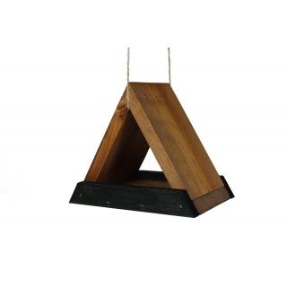 Karmnik dla ptaków - trójkątny - czarno-brązowy