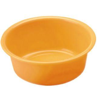 Miska okrągła - śr. 24 cm - pomarańczowa