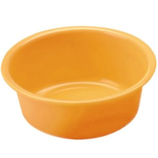 Miska okrągła - śr. 32 cm - pomarańczowa