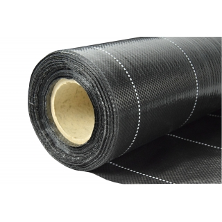 Agrotkanina czarna na chwasty - grubsza niż agrowłóknina - 1,10 x 10,00 m
