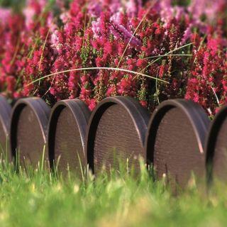 Obrzeże trawnikowe - krawężnik trawnikowy - Garden Line - 10 m - brąz