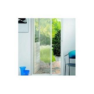 Siatka przeciw owadom - biała - moskitiera z taśmą samoprzylepną 150 x 180 cm