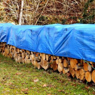 Plandeka - 4 x 5 m - niebieska