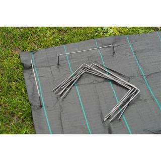 Szpilki do mocowania włóknin, folii, plandek i mat - 20 x 12 cm - 10 szt.