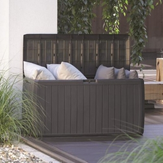 Skrzynia do ogrodu, na balkon lub taras - Boxe Board - 290 litrów - umbra