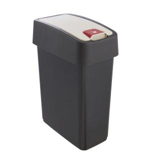 Kosz na śmieci z naciskaną pokrywą - Magne - 10 litrów - grafitowy
