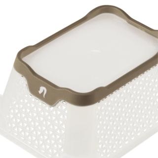Koszyk z funkcją antypoślizgową - Jonas A7 - szarobrązowy