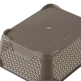 Koszyk do przechowywania A6 - szarobrązowy
