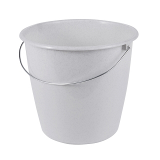 Wiadro z uchwytem metalowym - 5 litrów - granitowe