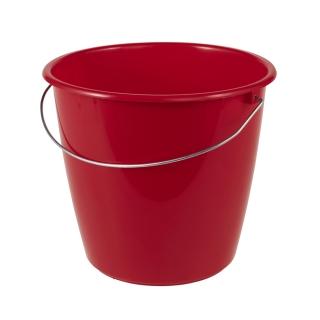 Wiadro z uchwytem metalowym - 5 litrów - czerwone