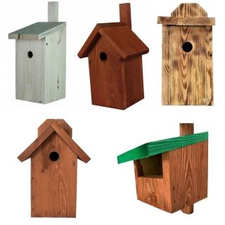 Budki lęgowe dla ptaków - różne kolory - 5 szt.