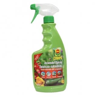 Axiendo Spray - Zwalczający szkodniki roślin warzywnych i róż w ogrodach - Compo - 750 ml