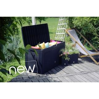 Skrzynia do ogrodu, na balkon lub taras - Boxe Matuba - 310 litrów - antracyt