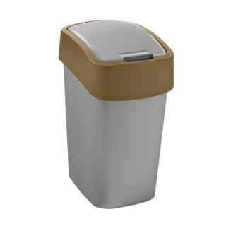 Kosz do sortowania śmieci Flip Bin - 10 litrów - brązowy